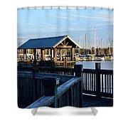 Mandarin Park Boathouse Shower Curtain