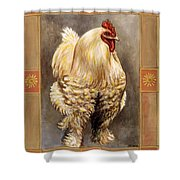 Mandy The Rooster Shower Curtain