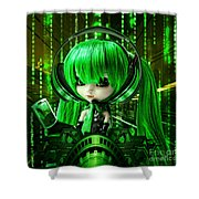 Manga Matrix Shower Curtain