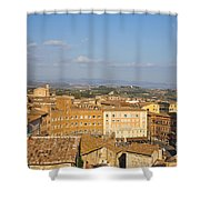Mangia Tower Piazzo Del Campo  Siena  Shower Curtain