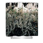Mangrove Aerial Roots Shower Curtain
