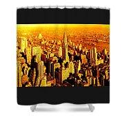 Manhattan And Chrysler Building Shower Curtain