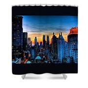 Manhattan At Sunset Shower Curtain