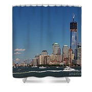 Manhattan Battery Park Skyline Shower Curtain