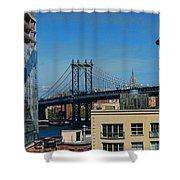 Manhattan Bridge From Brooklyn Shower Curtain