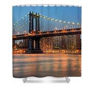 Manhattan Bridge I Shower Curtain