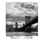 Manhattan Bridge In Bw Shower Curtain