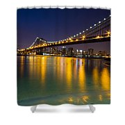Manhattan Bridge Shower Curtain