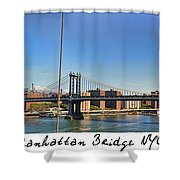 Manhattan Bridge Nyc Shower Curtain