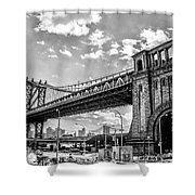 Manhattan Bridge - Pike And Cherry Streets Shower Curtain
