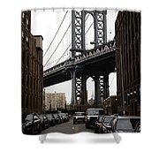 Manhattan Bridge View Shower Curtain