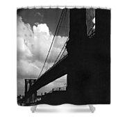 Manhattan Brooklyn Bridge View Shower Curtain