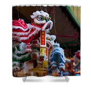 Manhattan Chinatown Decorations Shower Curtain
