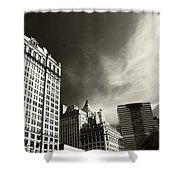 Manhattan Contrast Shower Curtain