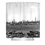 Manhattan From New Jersey Shower Curtain