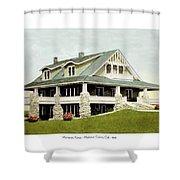 Manhattan Kansas - Manhattan Country Club - 1920 Shower Curtain