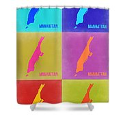 Manhattan Pop Art Map 3 Shower Curtain