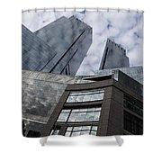 Manhattan Sky And Skyscrapers Shower Curtain