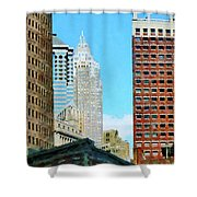 Manhattan Skyscrapers Shower Curtain