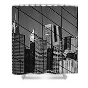 Manhattan Through The Brooklyn Bridge Shower Curtain