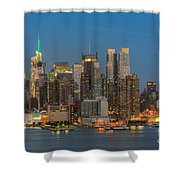 Manhattan Twilight IIi Shower Curtain by Clarence Holmes