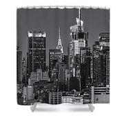 Manhattan Twilight Ix Shower Curtain by Clarence Holmes