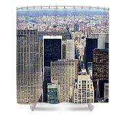 Manhattan View Uptown Shower Curtain