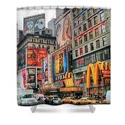 Manhattan's Theater District Shower Curtain