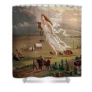 Manifest Destiny 1873 Shower Curtain by Photo Researchers