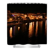 Manistee River Channel 2 Shower Curtain