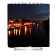 Manistee River Channel Shower Curtain