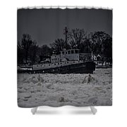 Manitou Tugboat Shower Curtain