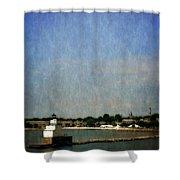 Manitowoc Breakwater Light 2.0 Shower Curtain