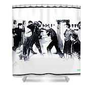 Manly Art Of Boxing Shower Curtain