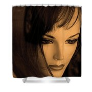 Mannequin Face Shower Curtain