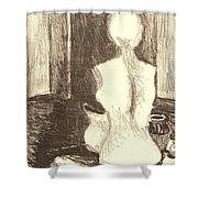Mannequin Life Shower Curtain