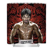 Manny Pacquiao Artwork 1 Shower Curtain