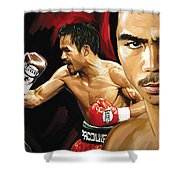 Manny Pacquiao Artwork 2 Shower Curtain