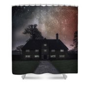 Manor At Night Shower Curtain