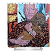 Man's Best Friend Shower Curtain by Tom Roderick