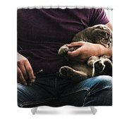 Man's Thing Shower Curtain