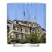 Mansard Roof Apartments Shower Curtain