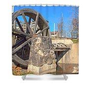 Mansfield Mill Water Wheel Shower Curtain