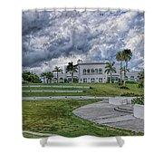 Mansion At Tuckahoe In Jensen Beach Florida Shower Curtain