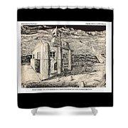 Mansion In Darkness Shower Curtain