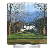 Mansion In The Woods Shower Curtain