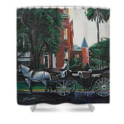 Mansion On Forsythe Savannah Georgia Shower Curtain