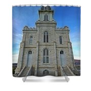 Manti Temple East Side Shower Curtain