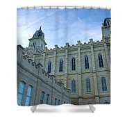 Manti Temple North Shower Curtain