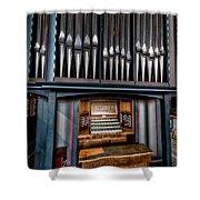 Manual Pipe Organ Shower Curtain